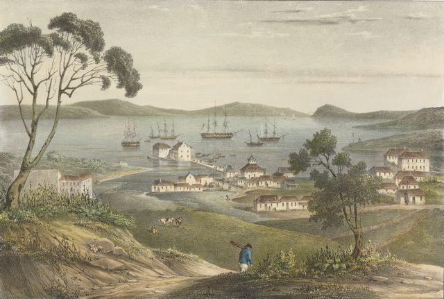 Van Diemans Land – Vue de la rade de Hobart-Town, Ile Van-Diemen-[Paris]