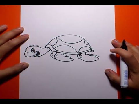 Como dibujar una tortuga paso a paso 2   How to draw a tortoise 2 - YouTube