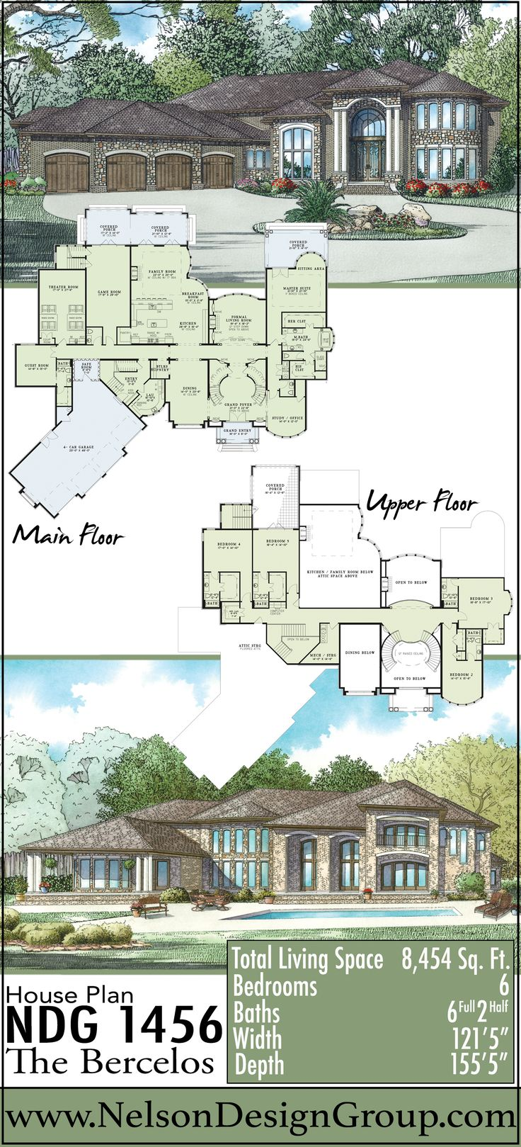 European House Design Plan: 115 Best European House Plans Images On Pinterest