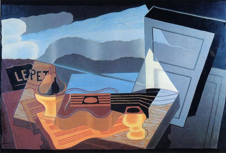 """""""View across the Bay"""", oil painting by Juan Gris, 1921 