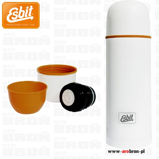 Termos Esbit Polar Vacuum Flask 1l biały - 2 kubki