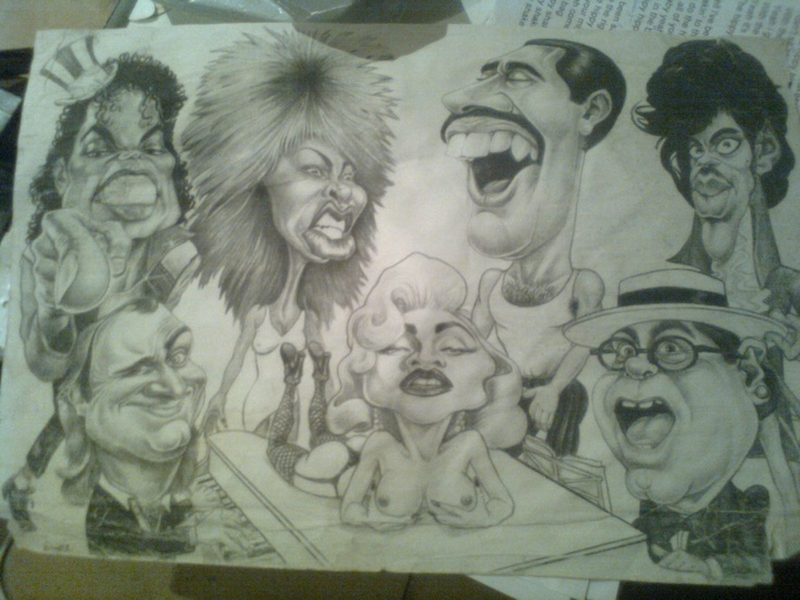 Could you name all these great musicians? My friends Csaba Kollo has drawn this picture about five yaers ago! He also likes #playing the #guitar!  http://www.guitartabmaker.com/