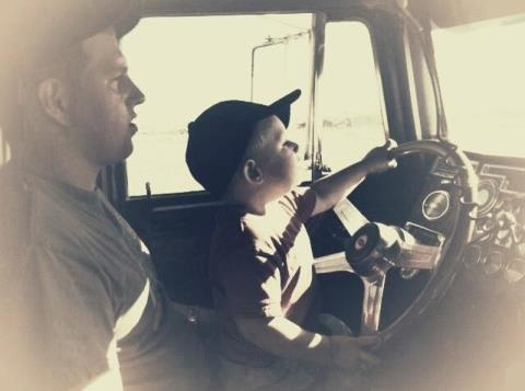 So cute! I remember doing this with my dad always! And I love doing it on a back road with Trey!