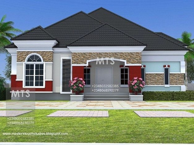 Bungalow Designs In Nigeria Free 4 Bedroom Bungalow House Plans In Nigeria Bungalow House Plans Beautiful House Plans Bungalow Style House Plans