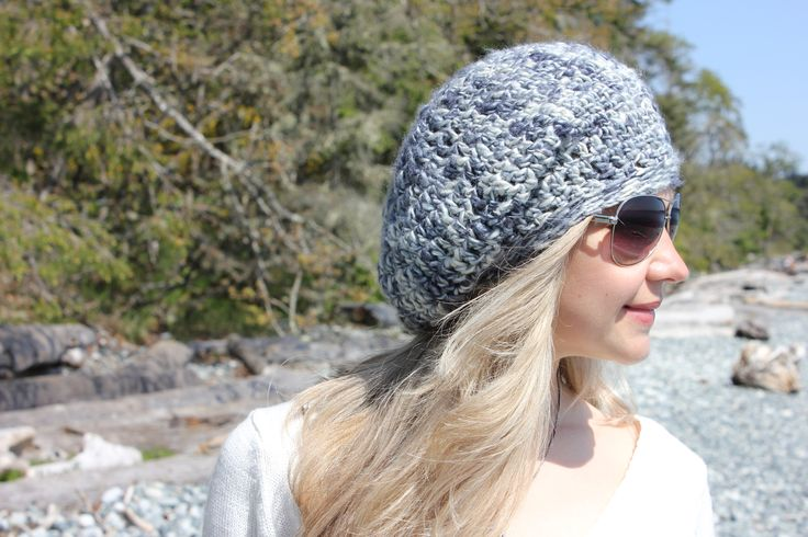 Stylish Slouchy Hat - 100% Mulberry Silk. www.facebook.com/KnitEleganza