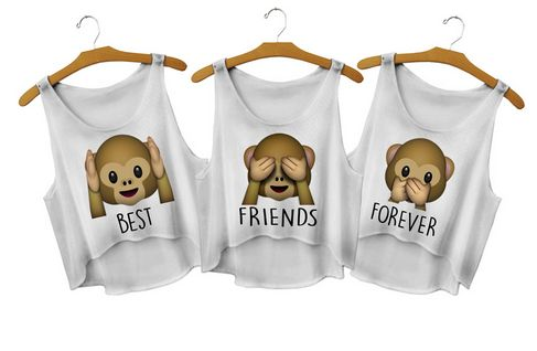 All monkey emoji best friends shirt http://www.fresh-tops.com