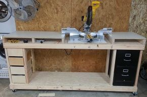 sketchup modeling my miter saw workbench with free 3d cad software, diy, how to, tools, The story on building the real one can be found on my blog as Building a Miter Saw Bench Economical but Beefy