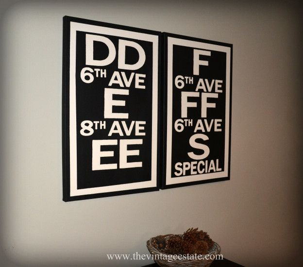 104 best knockoff decor images on pinterest craft ideas good diy subway sign restoration hardware knockoff solutioingenieria Image collections