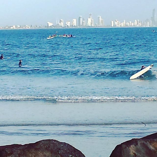 Feel-good fix 💙  #goldcoast #summer #ocean #beach #happy #waves #winning #bliss #outdoors #coast #views #followyourbliss #mindset #beachbum #picoftheday #tropical #australia #queensland #surfing #saltwater #paradise #surfersparadise #eastcoast #cityscape
