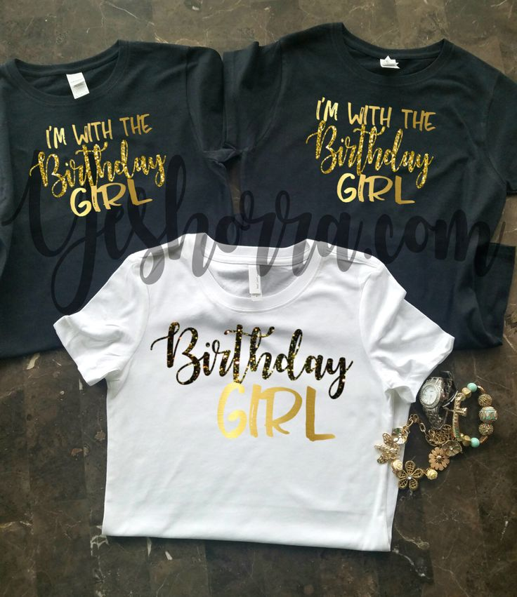 Birthday Party Shirts,  Birthday Group Shirts, Birthday Crew, Birthday Squad, Birthday Click, I'm With The Birthday Girl, by YeshorraDesignz on Etsy https://www.etsy.com/listing/492223792/birthday-party-shirts-birthday-group
