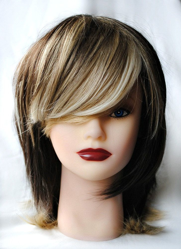 MOCHA SPICE wig // Two Tone Natural Hair // Brown Blond Scene Shag wig | Two Tones Mocha and Wigs