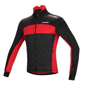 Santic Cycling Winter Jacket Long Sleeve Fleece Men chaleco ciclismo windproof Cheap Cycling Jersey Thermal Fleece M5C01059R/V