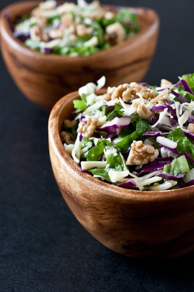Citroen + Honing Rode kool Salade met Pecorino + Walnoten