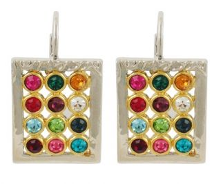 """Colorful Gold Filled """"Choshen"""" Earrings"""