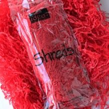 Wholesale tissue paper shreds in Valentines Day red and white.