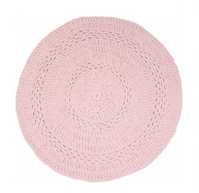 Gehaakt vloerkleed peony baby roze 80 cm - Naco Trade