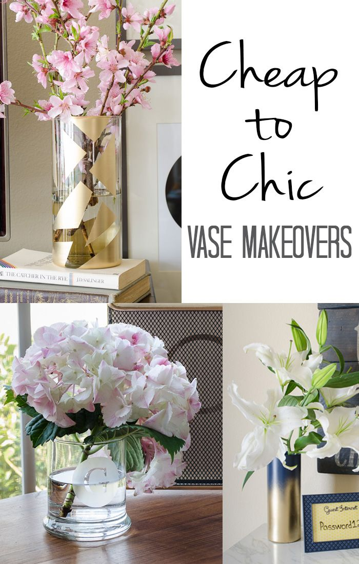 To Chic Vase Makeovers Diy Crafts Pinterest Home Decor And