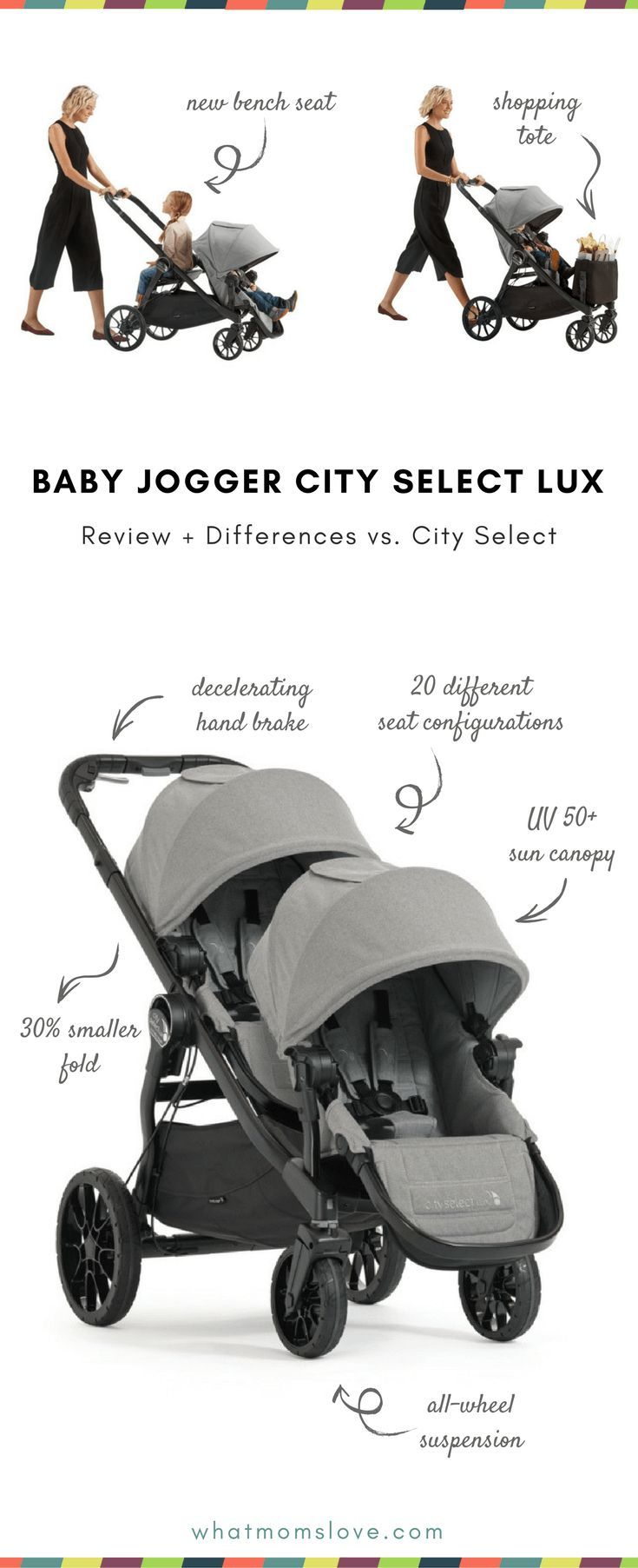 Baby Jogger City Select Lux Review Differences Between City Select Best Double Stroller For