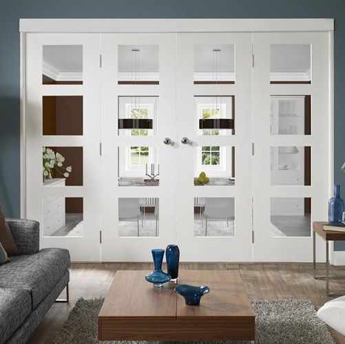 Freefold White Primed Internal Folding Door