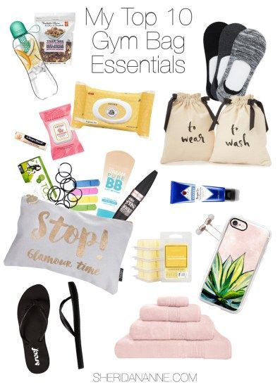 My Top 10 Gym Bag Essentials   http://sheridananne.com #gym #organised #workout #exercise - Tap the pin if you love super heroes too! Cause guess what? you will LOVE these super hero fitness shirts!