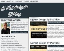 Create a modern blog layout in Adobe Photoshop - tutorial