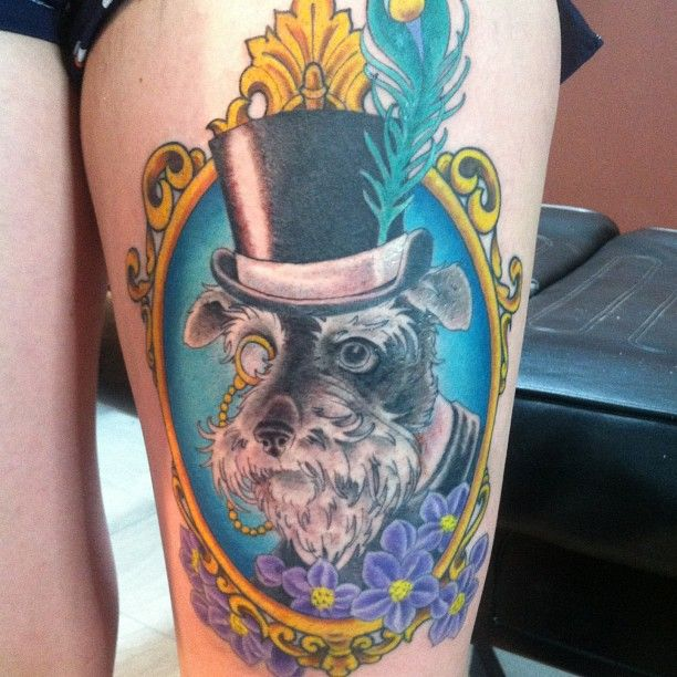One very suave pooch, artist unknown!