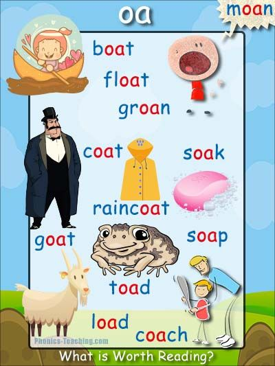 'oa' words phonics poster - Free Download!