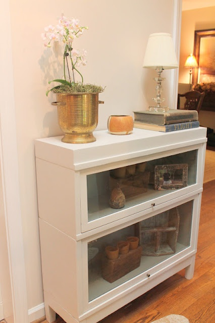 Barrister Bookshelf Makeover.  Also called lawyer bookcase or sectional bookcase