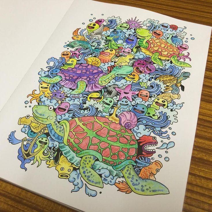 Turtles Doodleinvasion Inwazjabazgrolow Zifflin Coloring BooksTurtlesDoodleJournalsSketchColorPaintingsIdeas