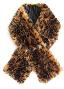 J.Crew Women's Leopard Faux Fur Stole