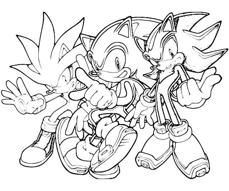 Sonic the hedgehog coloring pages printable sonic for Free printable sonic the hedgehog coloring pages