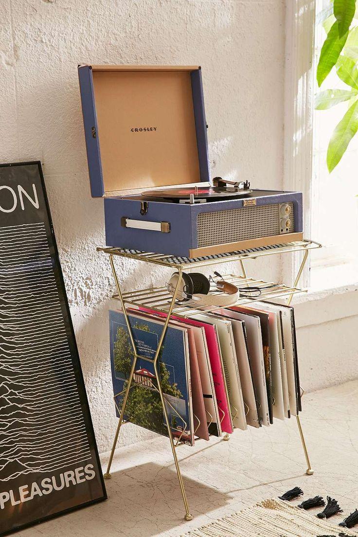 Schallplattenständer aus Metall