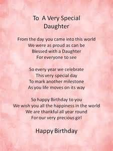 ... results 1 - 15 out of 4,630,000 for happy birthday my daughter poems