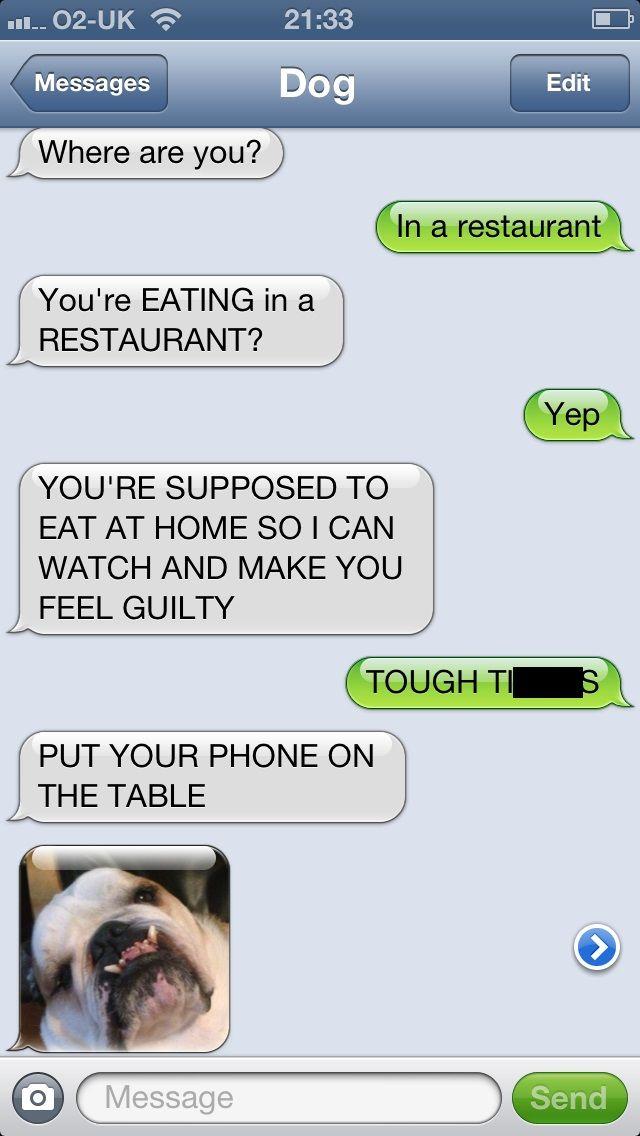 receiving texts