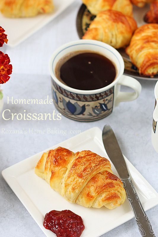 Homemade croissants roxanashomebaking.com