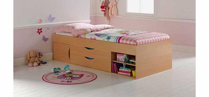 Unbranded Kaden Shorty Cabin Bed Frame - Beech Effect