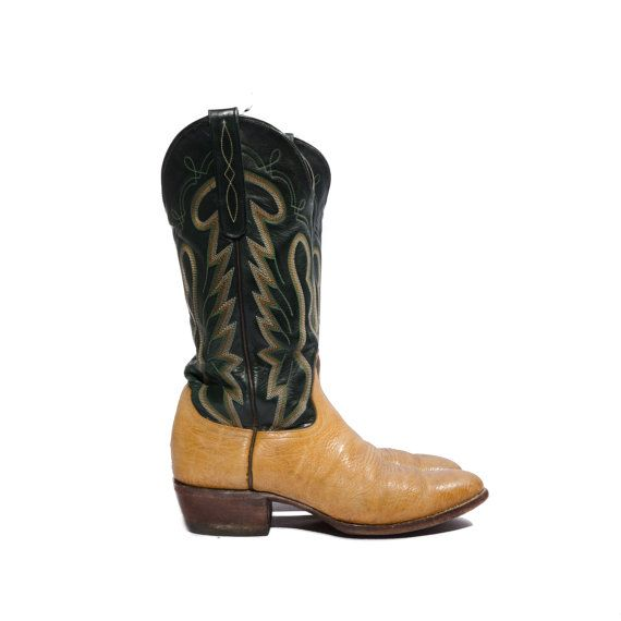 Vintage+Larry+Mahan+Cowboy+Boots+Two+Toned+by+