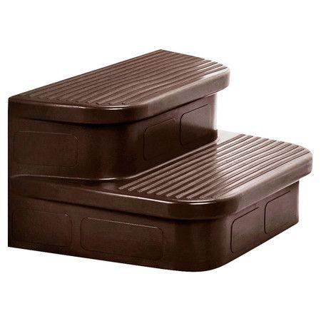 hot tubs see more found it at wayfair matching mahogany spa steps - Wayfair Hot Tub