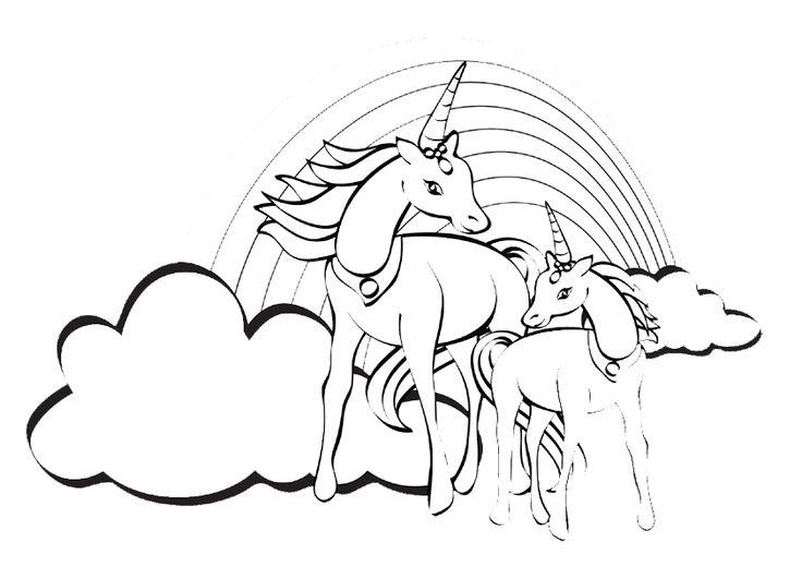 ausmalbilder malvorlagen ausmalen pferde24einhorn