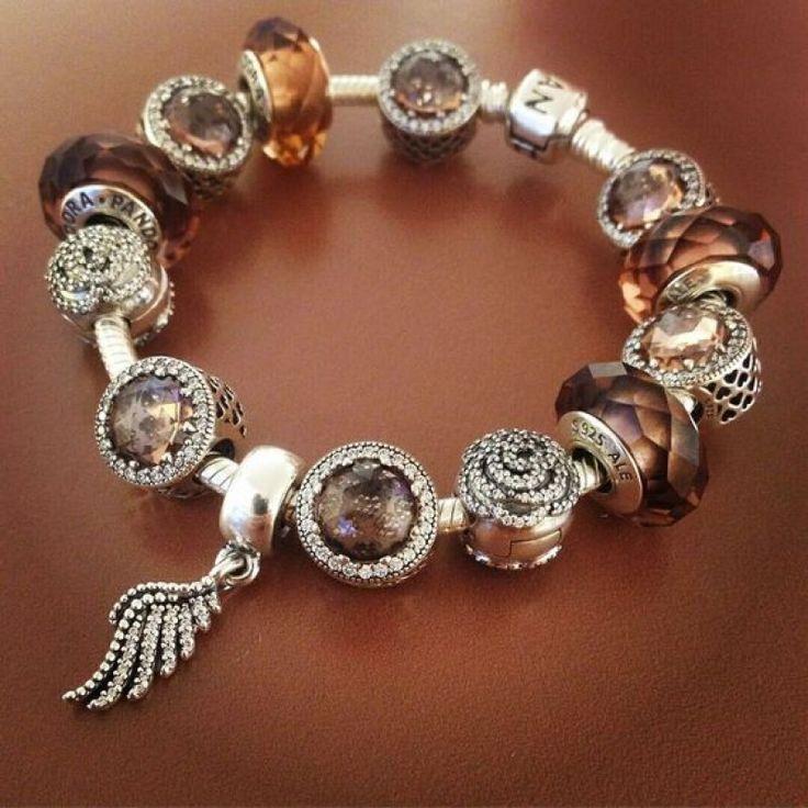 925 Sterling Silver Finished Pandora Charm Bracelet-Blush Pink