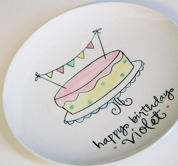 personalized banner cake birthday plate!?! adore!, Go To www.likegossip.com to get more Gossip News!