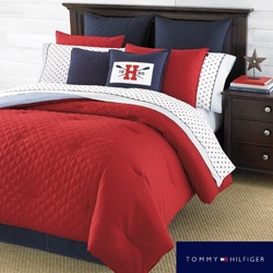 @Overstock - This red comforter features a solid pattern composed from a woven fabric detail. The Hilfiger Prep Red Comforter is 100-polyester and conveniently machine washable.http://www.overstock.com/Bedding-Bath/Tommy-Hilfiger-Prep-Red-Comforter/6783680/product.html?CID=214117 $79.99