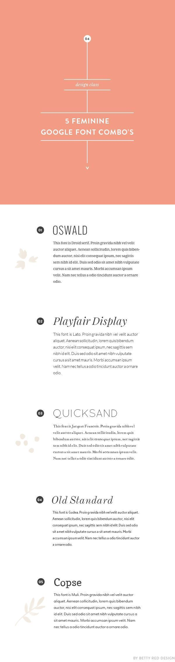 5 feminine google font combinations - Free Resume Fonts