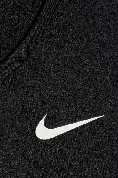 Nike - Pro Cool Mesh-paneled Dri-fit Stretch-jersey Top - Black