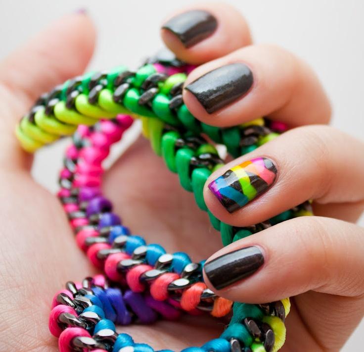 fluorescent nails