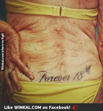 """I hate it when people say """"Well, they'll look bad when you're old.""""  Tattoos are about so much more than what they look like.  If I'm covered in wrinkles, then let those wrinkles be decorated by the art of my life."""