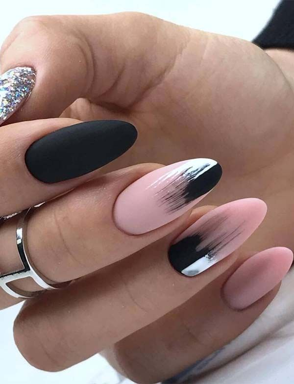 Pretty Nail Designs Images For Summer Season In 2019 Absurd Styles Pink Black Nails Nail Designs Pretty Nail Designs