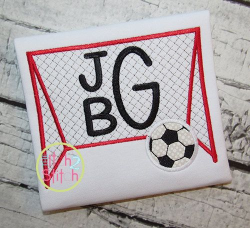 Soccer Goal Applique Design In Sizes 4x4 5x7 & by TheItch2Stitch