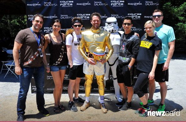 Todd Rey, Adrianne Curry, Chris Colfer, Alexis Denisof, Jared Eng, Jaime King and Kyle Newman attend the Course Of The Force 2013, An Epic Lightsaber Relay, Benefiting Make-A-Wish Foundation at Skywalker Ranch on July 9, 2013 in San Francisco, California. (Photo by Steve Jennings/WireImage)