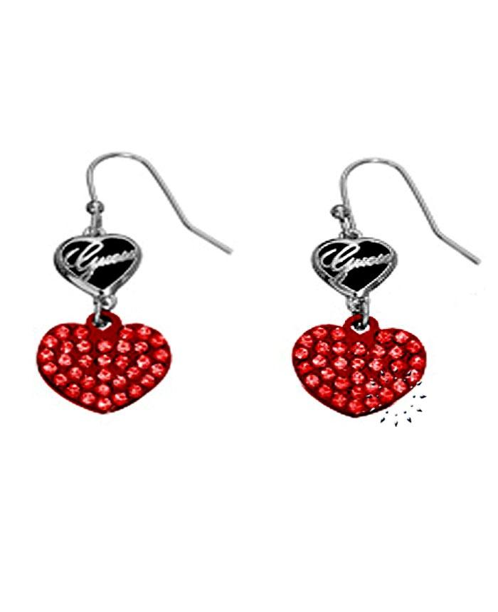 Σκουλαρίκια καρδιά από ορείχαλκο της Guess  42€  http://www.kosmima.gr/product_info.php?products_id=14375